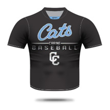Carine Cats Baseball Training Shirt